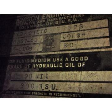 21#034; STROKE - 50 TON DENISON HYDRAULIC MULTIPRESS - MODEL KC