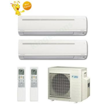 9000 + 18000 Btu Daikin Dual Zone Ductless Wall Mount Heat Pump Air Conditioner
