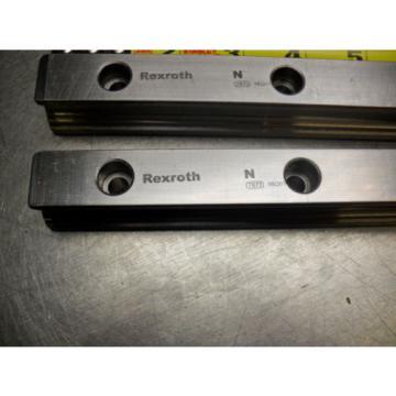 qty 2 - Rexroth 7873 16Q01 Linear Bearings Rail Guild 175MM long x 23MM wide