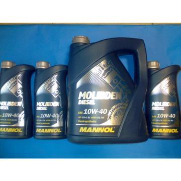 8L MANNOL Molibden Diesel 10W-40 API CG-4/CF-4/SJ Motoröl Öl 10W40 ACEA E2/B3/A2