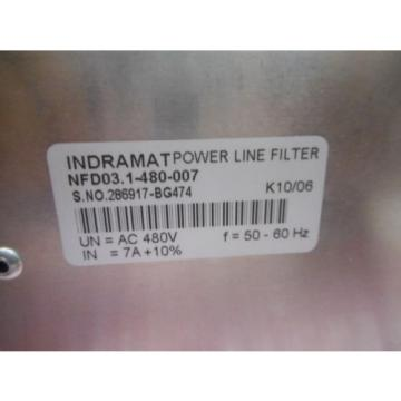 BOSCH REXROTH INDRAMAT NFD03-1480007 INDRADRIVE POWER LINE FILTER 3PH