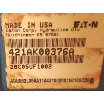 Eaton 421AK00367A,  Open Circuit Hydraulic Piston Pump, 380 cu in3/rev, CCW