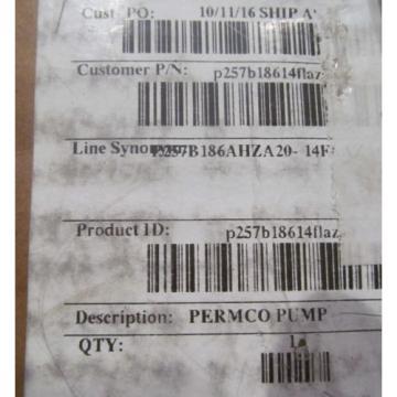 NEW PERMCO 257B 22-GPM HYDRAULIC PUMP P257B186AHZA20-14FLAZA05-1