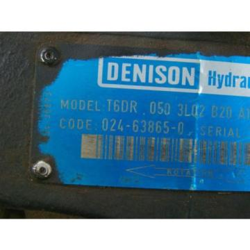 DENISON HYDRAULIC PUMP  1 1/2#034; SHAFT MODEL T6DR 050 3L02 B20 A1