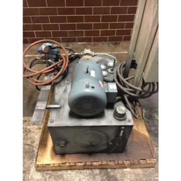 Hydraulic Tank Assembly W/ Baldor Motor amp; Eaton Pump 7-1/2 Hp 3 Phase