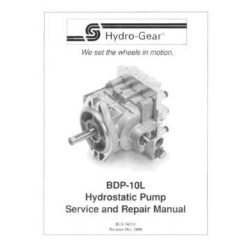 Pump PL-AAQQ-DY1X-XXXX/BDP-10L-134/990765015 HYDRO GEAR OEM FOR TRANSAXLE