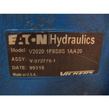 Origin EATON VICKERS HYDRAULIC VANE PUMP V2020-1F8S8S-1AA20  PORTS 3/4#034;