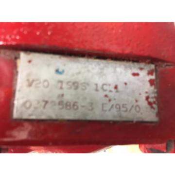 Vickers Eaton V20 1S9S1C11, Hydraulic Vane Pump, 181in³/r Displacement, 198gpm