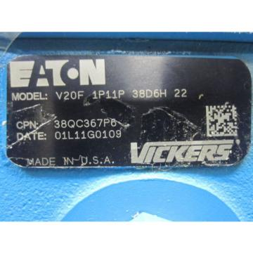 Origin EATON VICKERS POWER STEERING PUMP # V20F-1P11P-38D6H-22
