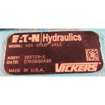 VICKERS V20 1P12P 1A11 HYDRAULIIC VANE PUMP  NOS  EATON