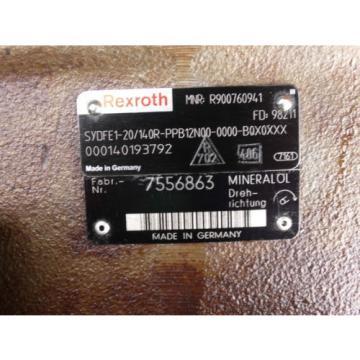 Rexroth Canada Greece Bosch hydraulic pump  SYDFE1-20/140R-PPB12N00-0000-B0X0XXX / R900760941