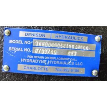 DENISON T6ED0660451R01B500 1 1/2#034; SHAFT 4#034; APPROX ID 4 BOLT PORT HYDRAULIC PUMP