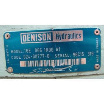 DENISON T6E 066 1R00 A1 T6E0661R00A1 SINGLE VANE HYDRAULIC PUMP