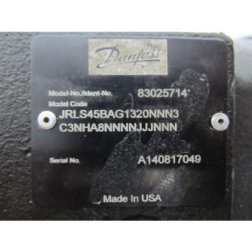 Danfoss 83025714, Series 45 Axial Piston Open Circuit Hydraulic Pump
