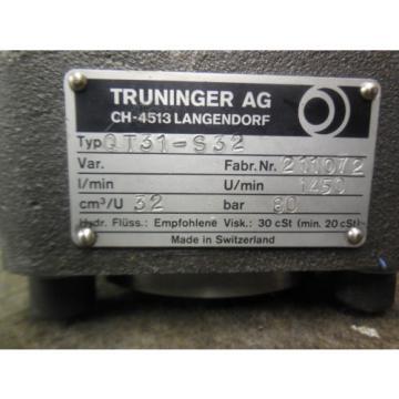 NEW TRUNINGER AG HYDRAULIC PUMP QT31-S32