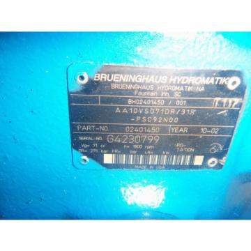 Rexroth/brueninghaus Mexico India AA10VSO71DR/31R-PSC92N00 Hydraulic Pump
