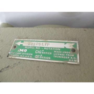 IMO 62125LIP CIG SERIES 4000PSI MAX GEAR HYDRAULIC PUMP D495872
