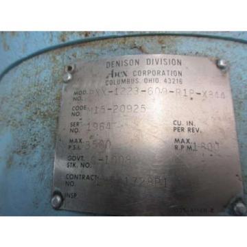 DENISON HYDRAULICS PXX-1223-609-R1P-X844 PISTON HYDRAULIC PUMP D513293