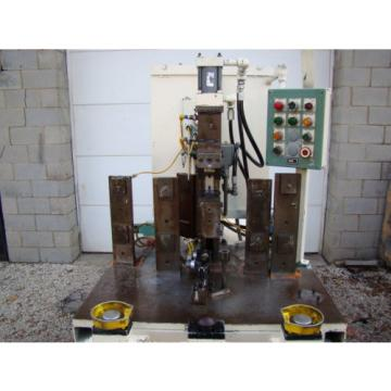 Hydraulic Press Station Barnes 7.5HP Power Unit Omron PLC Cylinder Punch Die