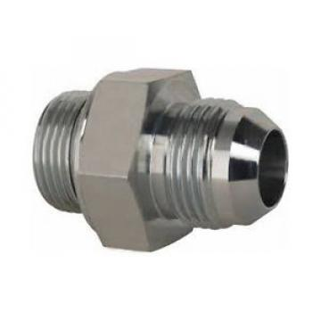 "FH-G146JIC-MMS Straight fitting G1/4"" (1/4""-19) M to #6JIC (9/16""-18) M steel"