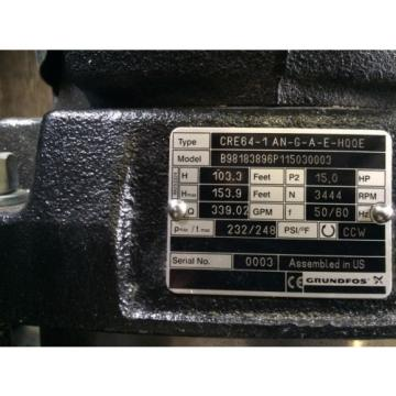 Grundfos CRE64-1AN-G-A-E-H00E Electronic Circulator Pump