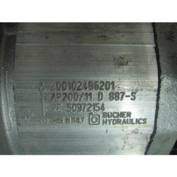 NEW BUCHER HYDRAULICS GEAR PUMP # AP200 / 11D887-S
