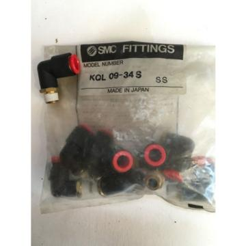 SMC FITTINGS KQLO9-34S NEW (BAG OF 10)