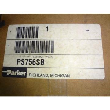 "NIB Parker Schrader Bellows 3/8"" NPT Modular Lockout Valve PS756SB"