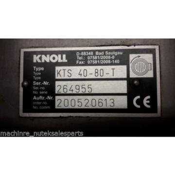 Knoll Coolant Pump Type: KTS 40-80-T_KTS4080T_Order Number: 200520613