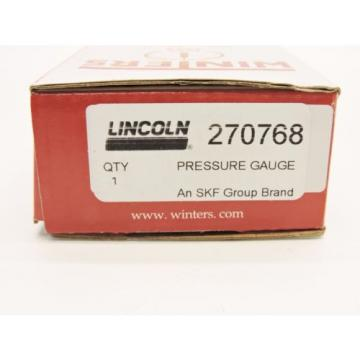 Lincoln 270768 Pressure Gauge Winters For Use With: LINCOLN CENTROMATIC New