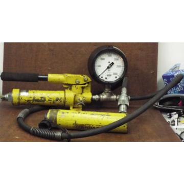 1 USED ENERPAC P18 w/ENERPAC RC-106 HYDRAULIC HAND PUMP ***MAKE OFFER***