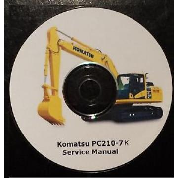 KOMATSU PC210-7K EXCAVATOR SERVICE MANUAL ON CD *FREE POSTAGE*