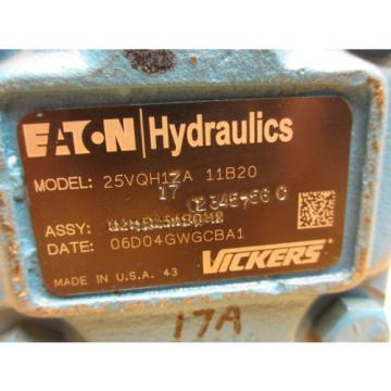 Eaton Vickers 25VQH17A 11B30 REMANUFACTURED Hydraulic Pump 02345756 C
