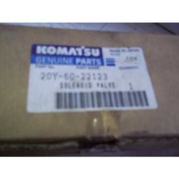 USED   KOMATSU   SOLENOID  VALVE   PART  NUMBER   20Y-60-22123