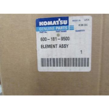 NOS NEW GENUINE KOMATSU FILTER 600-181-9500