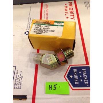 New OEM Komatsu Excavator Genuine Parts Elbow 07236-10522 Fast Shipping!