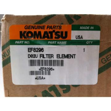 NEW KOMATSU EF8296 HYDRAULIC FLUID FILTER CARTRIDGE (SET OF 9)
