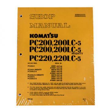 Komatsu Service PC200-5 Mighty, PC200LC-5 Shop Manual