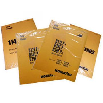 Komatsu PC20-7 Operation & Maintenance Manual Excavator Owners Book