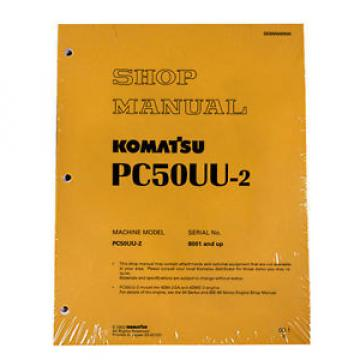 Komatsu Service PC50UU-2 Excavator Shop Repair Manual