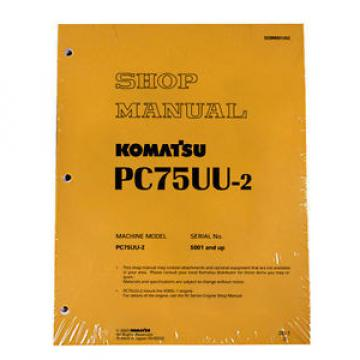 Komatsu Service PC75UU-2 Excavator Shop Repair Manual
