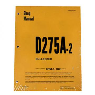 Komatsu D275A-2 Bulldozer Service Workshop Repair Printed Manual
