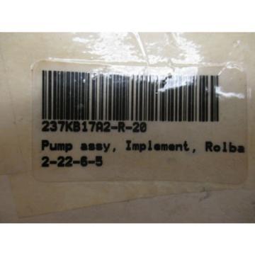 SAUER-DANFOSS 237KB17A2-R-20 HYDRAULIC PUMP ASSEMBLY    NEW