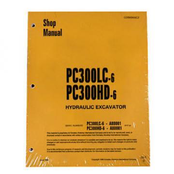 Komatsu Service PC300HD-6, PC300LC-6 Excavator Manual