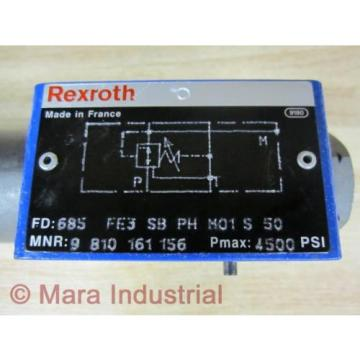 Rexroth China Greece Bosch 9 810 161 156 Valve 685 FE3 SB PH M01 S 50 - New No Box