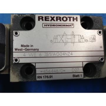USED Australia Australia REXROTH 4WE6J51/AG24NZ4 DIRECTIONAL VALVE 4 WE 6 J51/AG24NZ4 (U4)