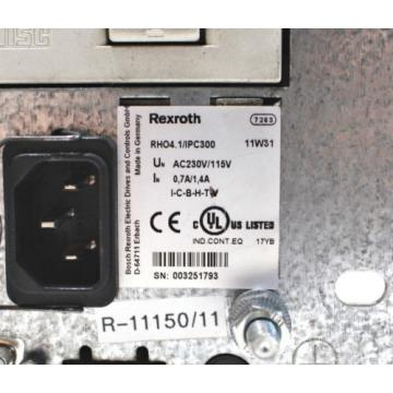Rexroth Greece Italy PC RHO4.1/IPC300 BASIC Unit RH04.1