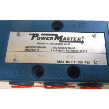 REXROTH, Canada Canada POWERMASTER, PNEUMATIC DIRECTIONAL VALVE, PT34101-0300, L1000