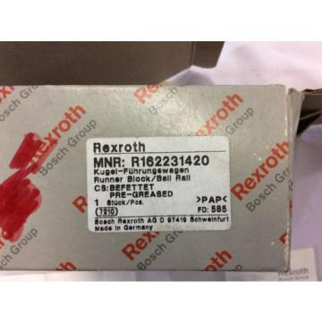 REXROTH Mexico India model# R162231420 runner block w/ ball bearing