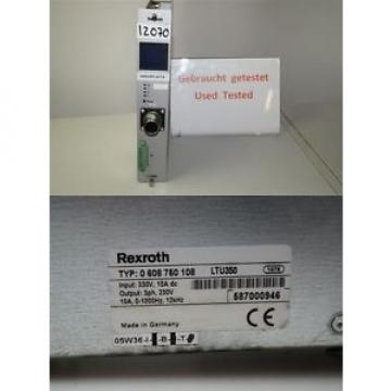 Rexroth Germany Mexico 0608750108  LTU350  servo amplifier 0 608 750 108